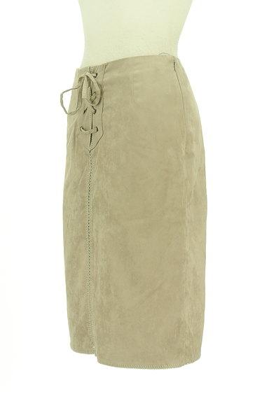Stola.(ストラ)の古着「レースアップスエードタイトスカート(スカート)」大画像3へ