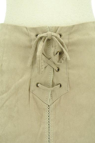 Stola.(ストラ)の古着「レースアップスエードタイトスカート(スカート)」大画像4へ