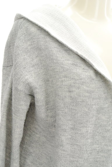FREE'S MART(フリーズマート)の古着「フード付きロングニットカーディガン(カーディガン・ボレロ)」大画像4へ