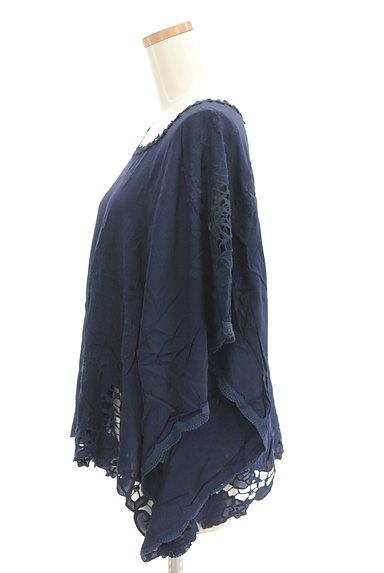 BABYLONE(バビロン)の古着「刺繍レースフレアドルマンカットソー(カットソー・プルオーバー)」大画像3へ