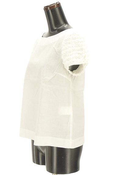 Bon mercerie(ボンメルスリー)の古着「フリル袖リネン混カットソー(カットソー・プルオーバー)」大画像3へ