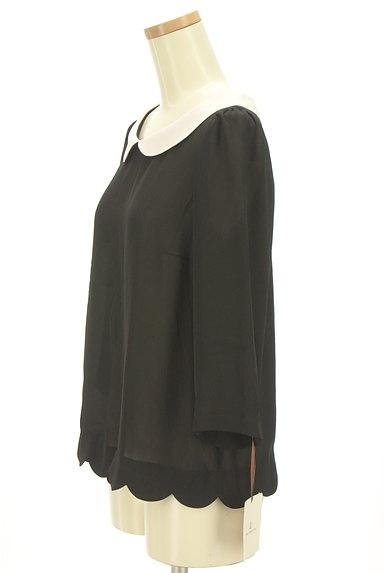 Bon mercerie(ボンメルスリー)の古着「丸襟スカラップカットソー(カットソー・プルオーバー)」大画像3へ