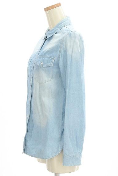 GALLARDAGALANTE(ガリャルダガランテ)の古着「ハイウォッシュデニムシャツ(カジュアルシャツ)」大画像3へ