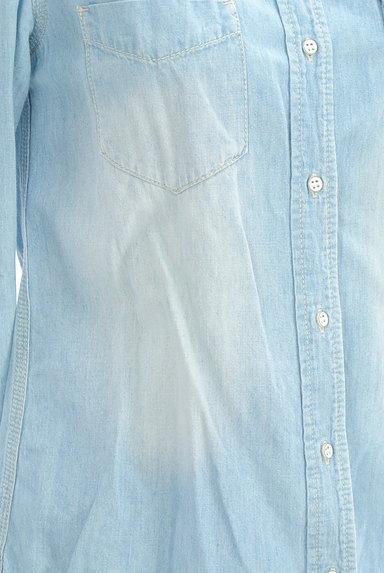 GALLARDAGALANTE(ガリャルダガランテ)の古着「ハイウォッシュデニムシャツ(カジュアルシャツ)」大画像5へ