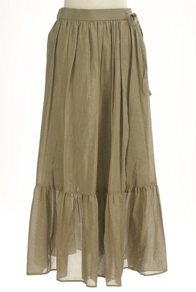 Adam et Rope(アダムエロペ)の古着「切替ギャザーロングスカート(ロングスカート・マキシスカート)」大画像1へ