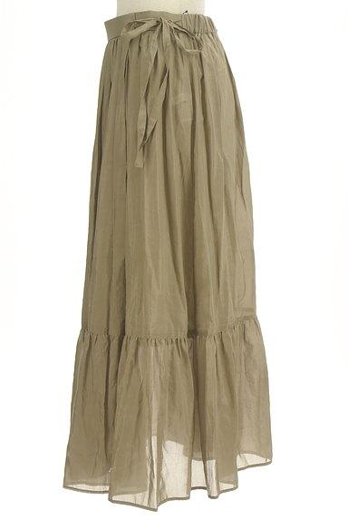 Adam et Rope(アダムエロペ)の古着「切替ギャザーロングスカート(ロングスカート・マキシスカート)」大画像3へ
