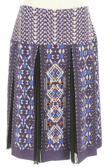 HIROKO BIS(ヒロコビス)の古着「エスニック刺繍タックプリーツスカート(スカート)」大画像1へ