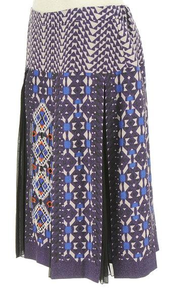 HIROKO BIS(ヒロコビス)の古着「エスニック刺繍タックプリーツスカート(スカート)」大画像3へ