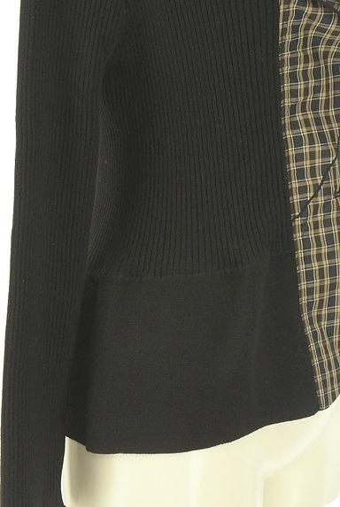 HIROKO BIS(ヒロコビス)の古着「チェック柄切替ペプラムカーディガン(カーディガン・ボレロ)」大画像5へ