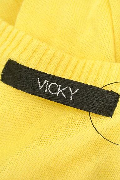 VICKY(ビッキー)の古着「ビジューボタンカラーカーディガン(カーディガン・ボレロ)」大画像6へ
