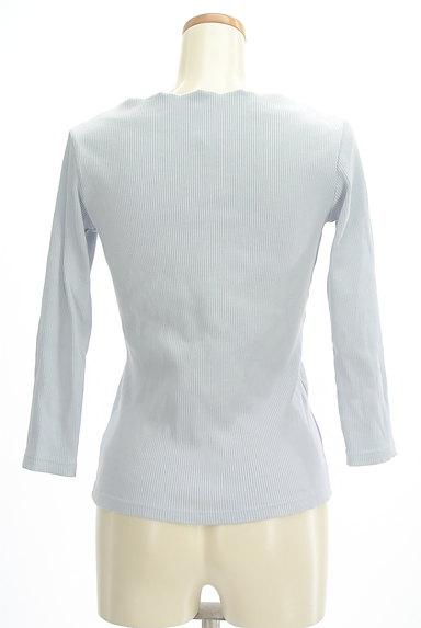 VICKY(ビッキー)の古着「スカラップVネック7分袖リブニット(ニット)」大画像2へ