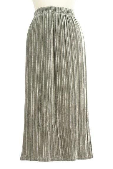 VICKY(ビッキー)の古着「ベロアプリーツミモレスカート(ロングスカート・マキシスカート)」大画像1へ