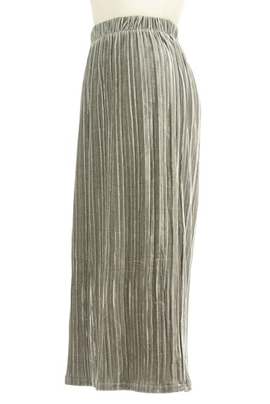 VICKY(ビッキー)の古着「ベロアプリーツミモレスカート(ロングスカート・マキシスカート)」大画像3へ