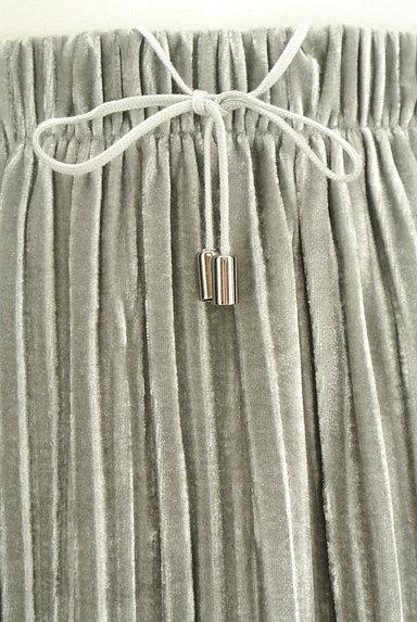 VICKY(ビッキー)の古着「ベロアプリーツミモレスカート(ロングスカート・マキシスカート)」大画像4へ