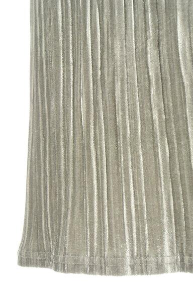 VICKY(ビッキー)の古着「ベロアプリーツミモレスカート(ロングスカート・マキシスカート)」大画像5へ