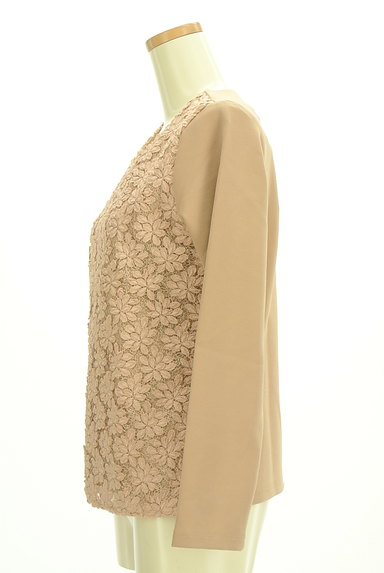 VICKY(ビッキー)の古着「花刺繍レース切替カットソー(カットソー・プルオーバー)」大画像3へ