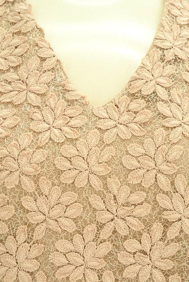 VICKY(ビッキー)の古着「花刺繍レース切替カットソー(カットソー・プルオーバー)」大画像4へ