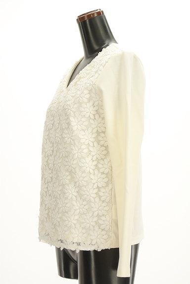 VICKY(ビッキー)の古着「花刺繍レースVネックカットソー(カットソー・プルオーバー)」大画像3へ