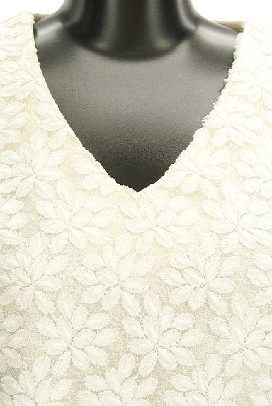 VICKY(ビッキー)の古着「花刺繍レースVネックカットソー(カットソー・プルオーバー)」大画像4へ