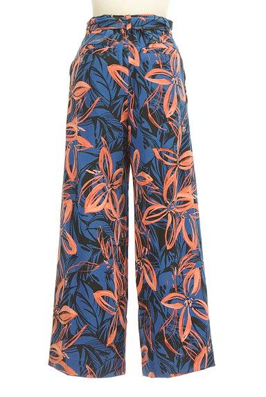 VICKY(ビッキー)の古着「リゾート花柄リボンワイドパンツ(パンツ)」大画像2へ