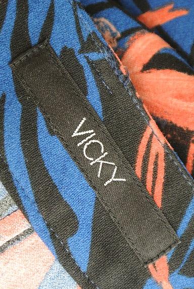 VICKY(ビッキー)の古着「リゾート花柄リボンワイドパンツ(パンツ)」大画像6へ