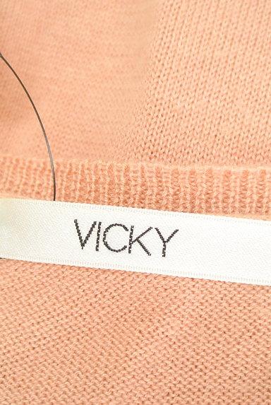 VICKY(ビッキー)の古着「サイドフリルVネックニット(ニット)」大画像6へ