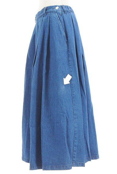 OPAQUE.CLIP(オペークドットクリップ)の古着「デニムロングスカート(ロングスカート・マキシスカート)」大画像4へ