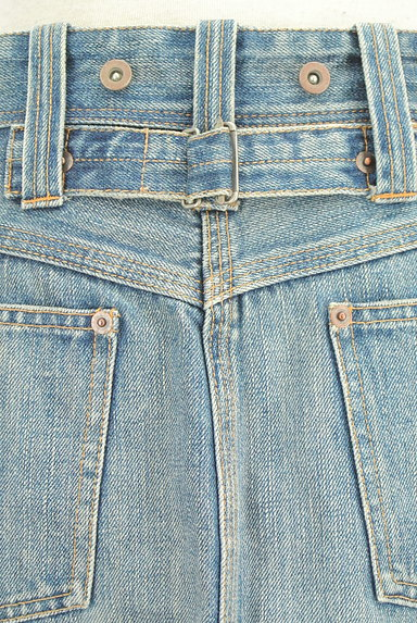 Ralph Lauren(ラルフローレン)の古着「前スリット膝丈デニムスカート(スカート)」大画像4へ