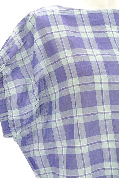 Te chichi(テチチ)の古着「チェック柄コットンブラウス(カットソー・プルオーバー)」大画像4へ