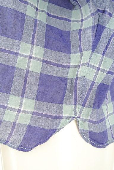 Te chichi(テチチ)の古着「チェック柄コットンブラウス(カットソー・プルオーバー)」大画像5へ
