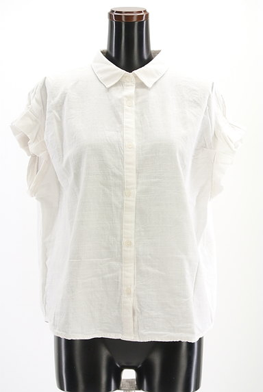 Te chichi(テチチ)の古着「タックフリル袖コットンシャツ(カジュアルシャツ)」大画像1へ
