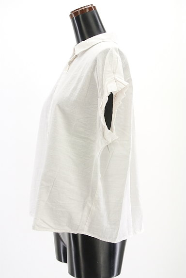 Te chichi(テチチ)の古着「タックフリル袖コットンシャツ(カジュアルシャツ)」大画像3へ