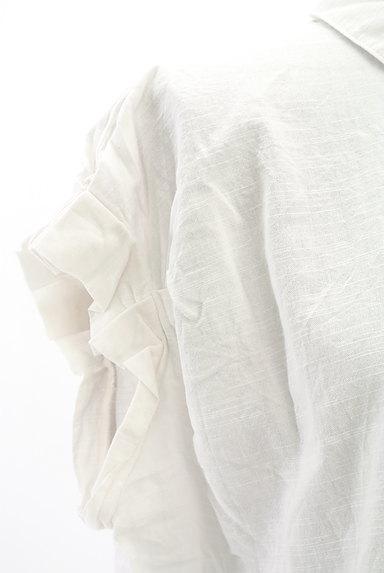 Te chichi(テチチ)の古着「タックフリル袖コットンシャツ(カジュアルシャツ)」大画像4へ