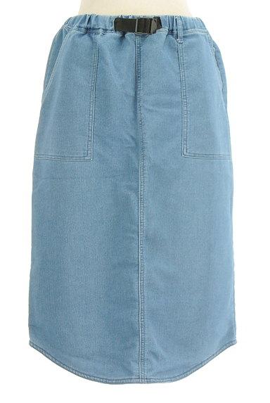 SM2(サマンサモスモス)の古着「デニム調膝下丈スカート(ロングスカート・マキシスカート)」大画像1へ