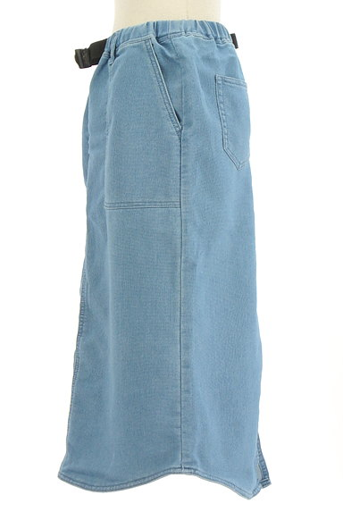 SM2(サマンサモスモス)の古着「デニム調膝下丈スカート(ロングスカート・マキシスカート)」大画像3へ