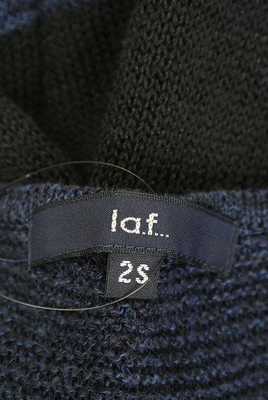 la.f...(ラエフ)の古着「ボーダーコットンリネンニット(ニット)」大画像6へ