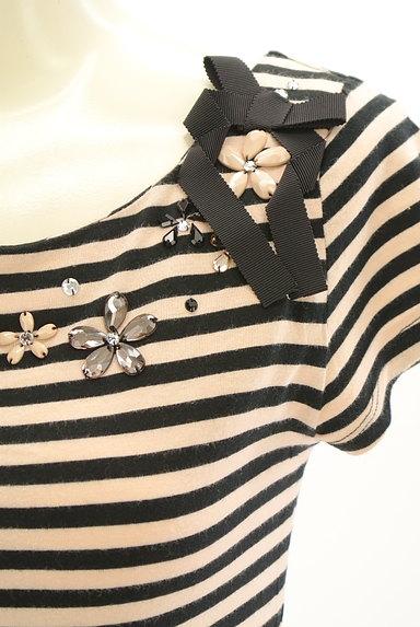 TOCCA(トッカ)の古着「ビジュー刺繍ボーダーカットソー(カットソー・プルオーバー)」大画像4へ