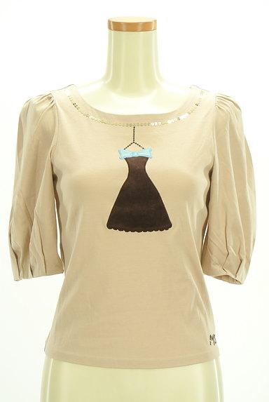 M'S GRACY(エムズグレイシー)の古着「ドレス刺繍ボリューム袖カットソー(カットソー・プルオーバー)」大画像1へ