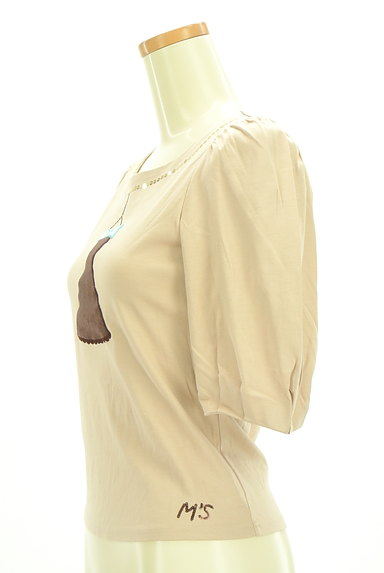 M'S GRACY(エムズグレイシー)の古着「ドレス刺繍ボリューム袖カットソー(カットソー・プルオーバー)」大画像3へ