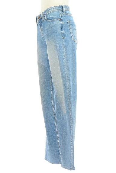 YANUK(ヤヌーク)の古着「ウォッシュド加工ワイドデニムパンツ(デニムパンツ)」大画像3へ