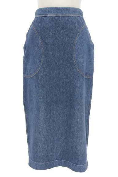 45r(45アール)の古着「膝下丈ストレッチタイトスカート(ロングスカート・マキシスカート)」大画像1へ