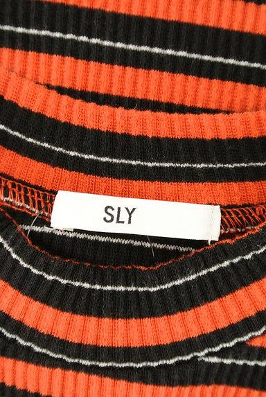 SLY(スライ)の古着「リブボーダータイトワンピース(ワンピース・チュニック)」大画像6へ