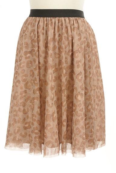 JUSGLITTY(ジャスグリッティー)の古着「レオパード柄膝丈チュールスカート(スカート)」大画像1へ