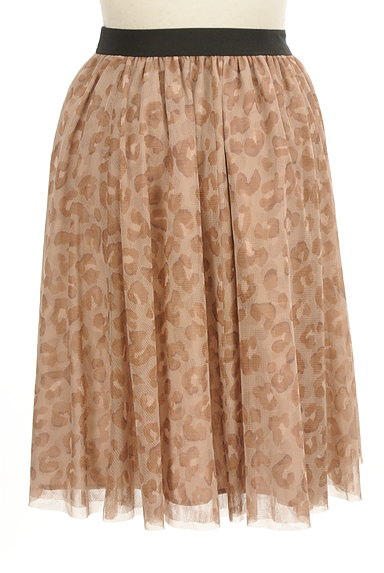 JUSGLITTY(ジャスグリッティー)の古着「レオパード柄膝丈チュールスカート(スカート)」大画像2へ