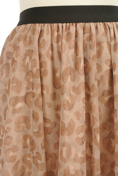 JUSGLITTY(ジャスグリッティー)の古着「レオパード柄膝丈チュールスカート(スカート)」大画像4へ