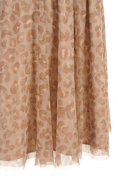 JUSGLITTY(ジャスグリッティー)の古着「レオパード柄膝丈チュールスカート(スカート)」大画像5へ