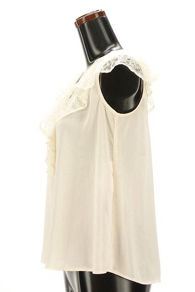 JILL by JILLSTUART(ジルバイジルスチュアート)の古着「フリルレース襟シフォンブラウス(カットソー・プルオーバー)」大画像3へ