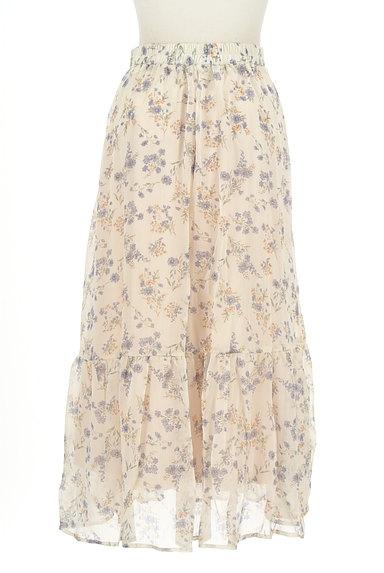 WILLSELECTION(ウィルセレクション)の古着「小花楊柳シフォンロングスカート(ロングスカート・マキシスカート)」大画像2へ
