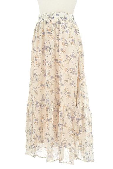 WILLSELECTION(ウィルセレクション)の古着「小花楊柳シフォンロングスカート(ロングスカート・マキシスカート)」大画像3へ