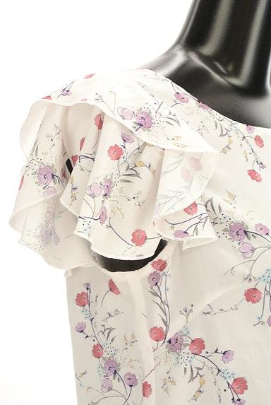 WILLSELECTION(ウィルセレクション)の古着「小花柄シフォンフリルカットソー(カットソー・プルオーバー)」大画像4へ